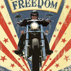 Plaque publicitaire de décoration murale 20057-freedom-chopper-bike