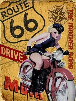 Plaque publicitaire de décoration murale 20058 route 66