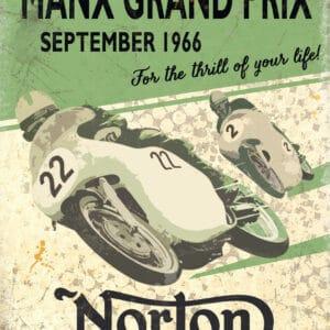 Plaque publicitaire de décoration murale Norton Retro Sign