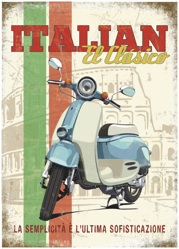 Plaque de décoration murale Italian el clasico