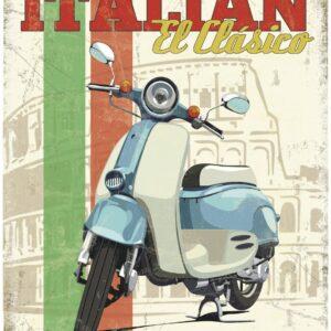 Plaque publicitaire de décoration murale 20079 italy scooter