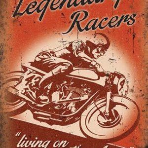 Plaque publicitaire de décoration murale 5245 Legendary Racers V2 - 2017 - WEB