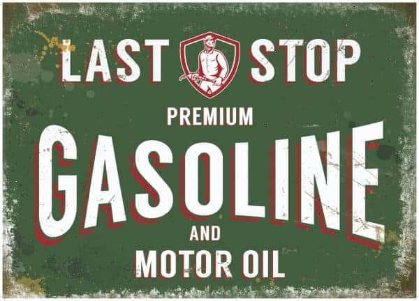 Plaque de décoration murale Last Stop Gasoline
