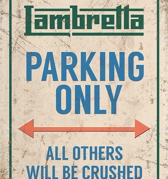 Plaque publicitaire de décoration murale lambretta_10874_parking_