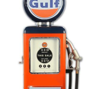 Pompe à essence americaine 8 Ball Gulf Gasoline