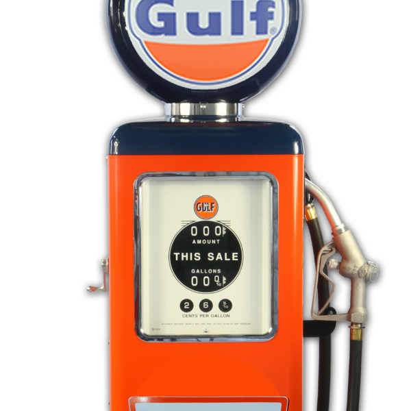 Pompe à essence americaine 8 Ball Gulf Gasoline