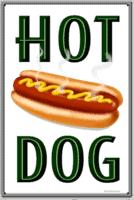 Plaque publicitaire Diner XL – Hot Dogs