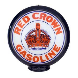 Red Crown Globe de pompe a essence americaine