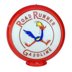 Road Runner Globe publicitaire de pompe a essence