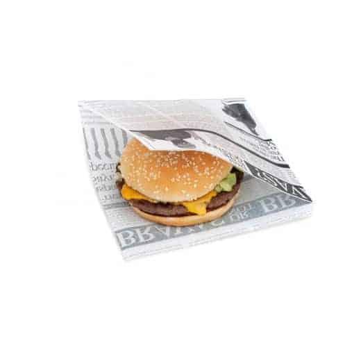 Sachet papier gras pour hamburger