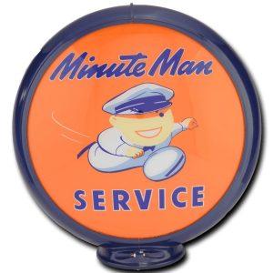 Minute Man Globe publicitaire de pompe a essence