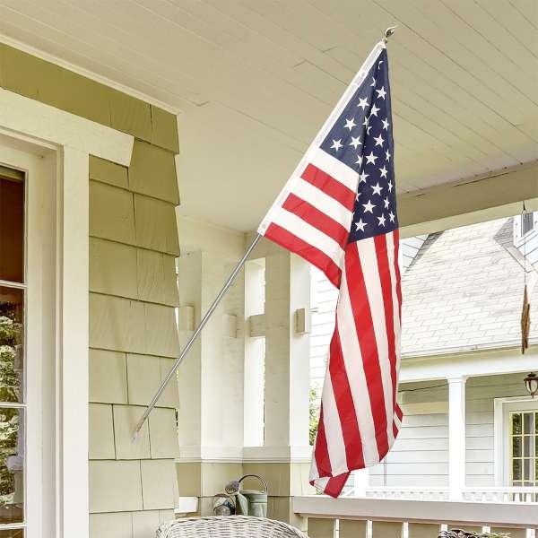 Drapeau américain avec mat et aigle