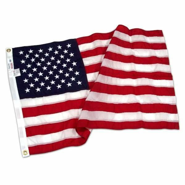 Drapeau Américain nylon coutures et étoiles brodées 121x183cm
