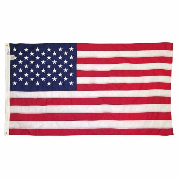 Drapeau Américain coton coutures et étoiles brodées 152x91cm