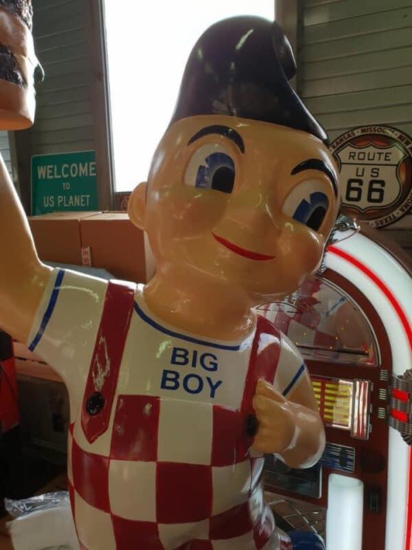 Statue du Big Boy effigie des restaurant américain de Californie