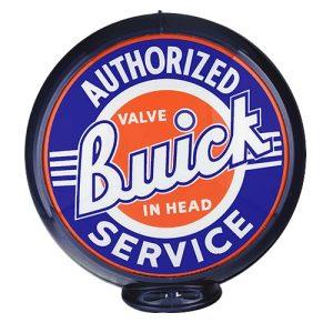 Washington DC Relief EmbossedBuick Service Globe publicitaire de pompe a essence
