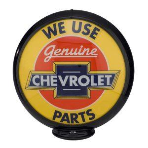 Chevrolet Parts Globe publicitaire de pompe a essence