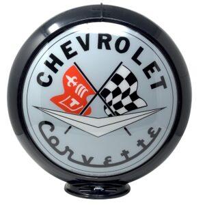 Corvette Globe publicitaire de pompe a essence