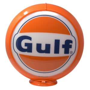 1963 Gulf Gasoline Globe publicitaire de pompe a essence