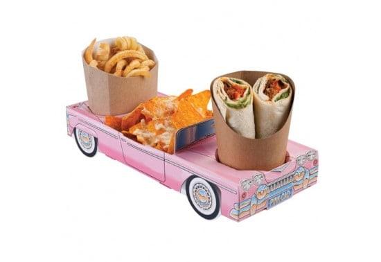 Lot de 250 barquettes cartons pour menu et/ou anniversaire enfants – Pink Cadillac Combi