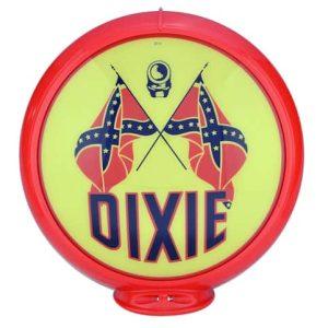 Dixie Globe publicitaire de pompe a essence