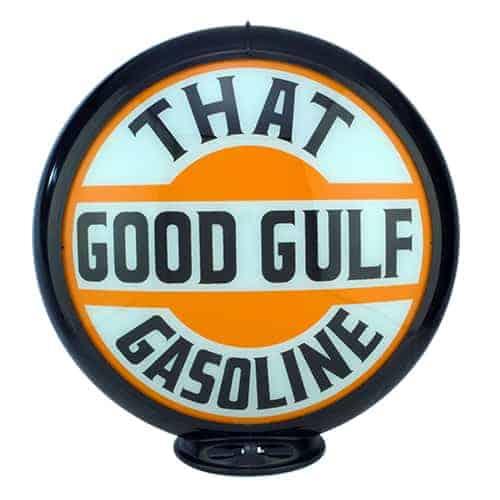 That Good Gulf Gasoline Globe publicitaire de pompe a essence