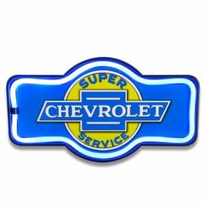 Enseigne neon led decoration americaine murale Chevrolet Service