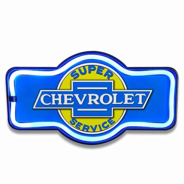 Enseigne neon led decoration americaine murale Chevrolet Service