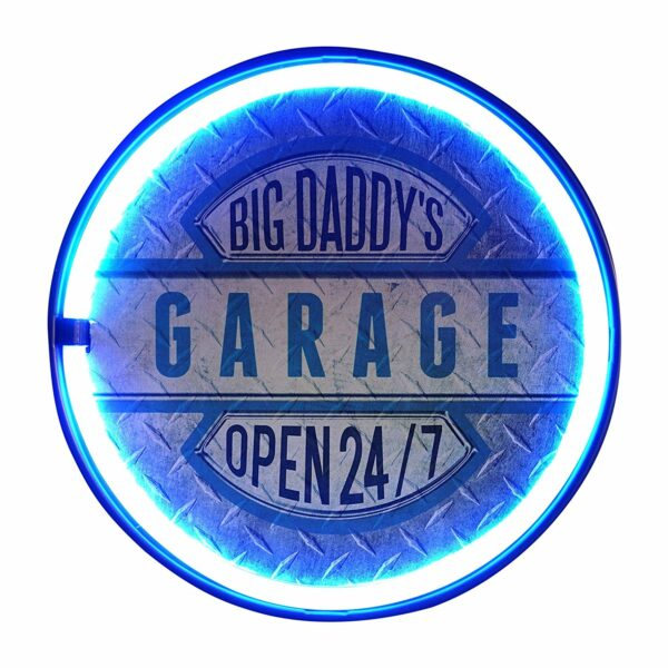 Enseigne neon led decoration americaine murale Big Daddy's Garage