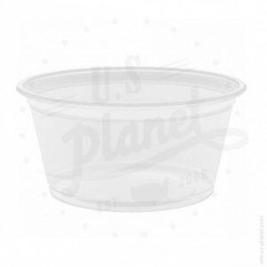 Pots et récipients en plastique ou en papier plissé