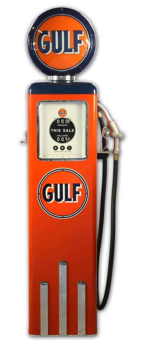 Pompe à essence Américaine – Gulf