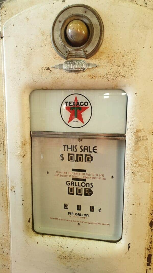 Pompe à essence TEXACO BENNETT 646 Vintage