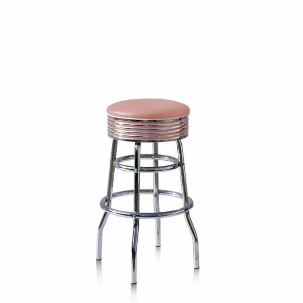 BS29 Rose Tabouret de bar americain vintage