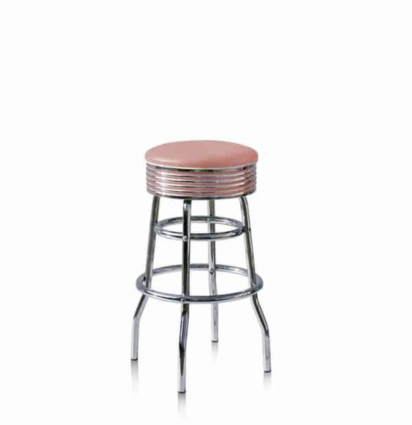 Tabouret de bar sans dossier – Rose
