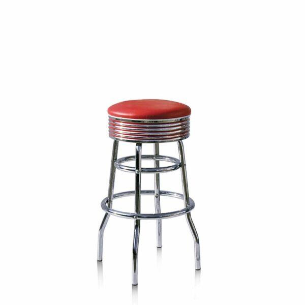 BS29 Rouge Tabouret de bar americain vintage
