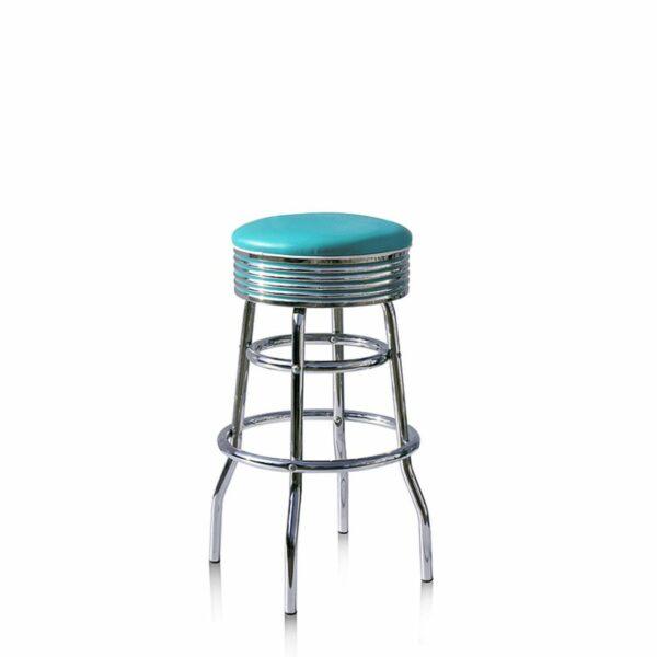 BS29 Turquoise Tabouret de bar americain vintage
