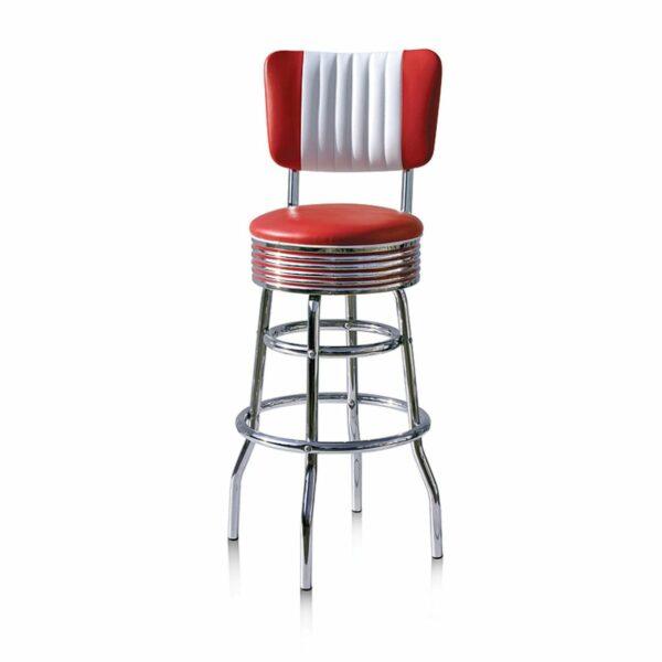 BS29CB Rouge Tabouret de bar americain vintage