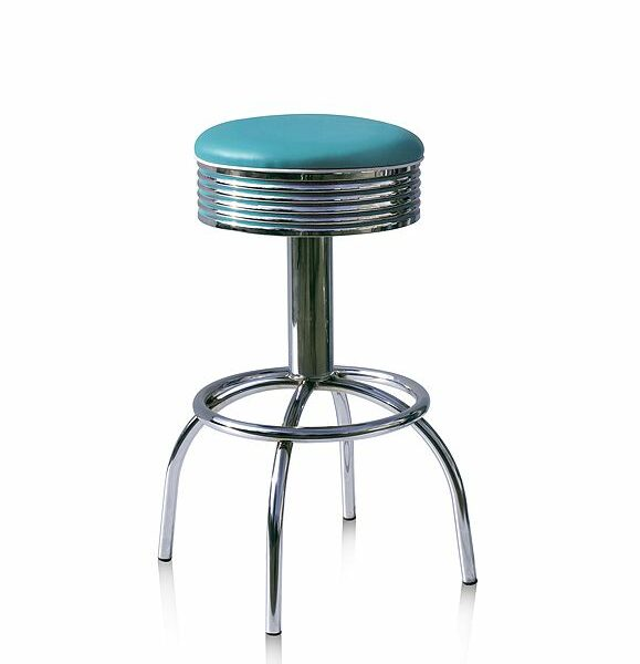 BS30 Turquoise Tabouret de bar americain vintage