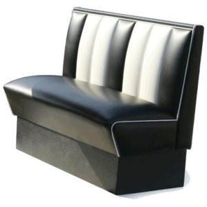 Banquette 120 cm - Noire - deco americaine mobilier fifties