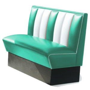 Banquette 120 cm - Turquoise - deco americaine mobilier fifties