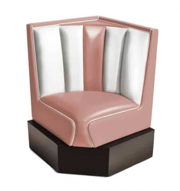 Banquette d'angle Hollywood rose 60cm