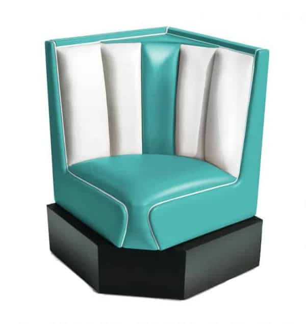 Banquette d'angle Hollywood turquoise 60cm