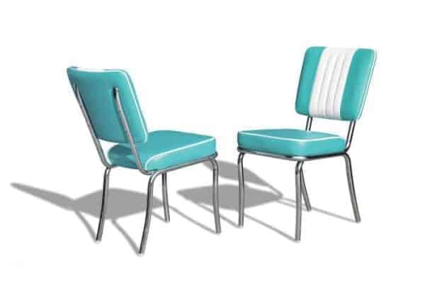 Chaise « Fonzie » Happy Days 1950's Turquoise