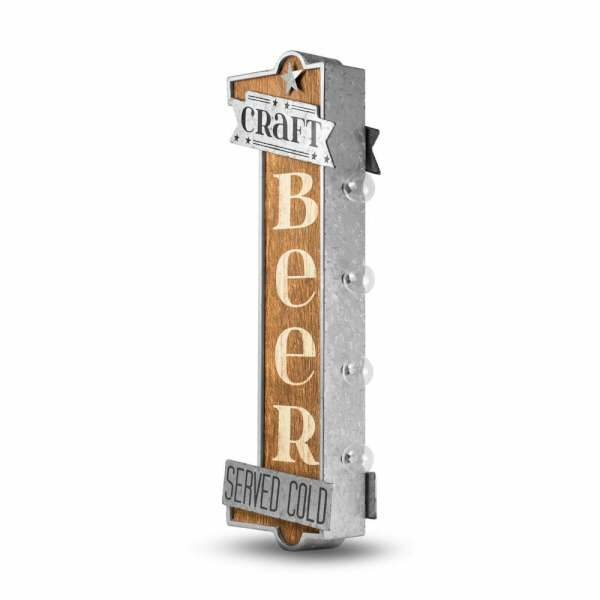Enseigne murale decoration americaine a led Craft Beer