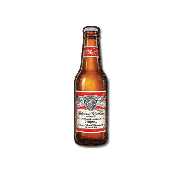 Budweiser Bottle Die Cut Biere Americaine
