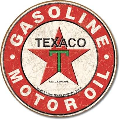 Texaco plaque publicitaire station service