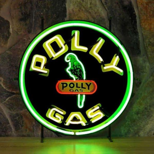 ENT 8276 Polly gas neon publicitaire en verre