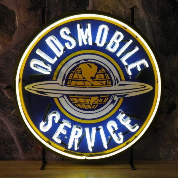 ENT 8354 Oldsmobile Global service neon publicitaire en verre