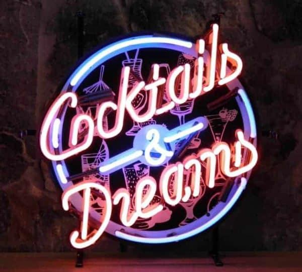 Enseigne Néon Lumineuse Décoration Américaine Cocktails & Dreams