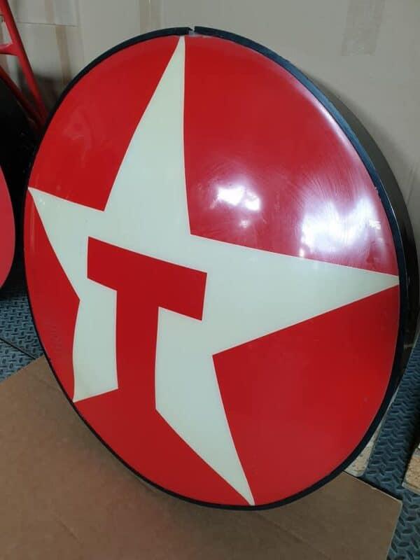 Enseigne vintage de station service TEXACO 87cm